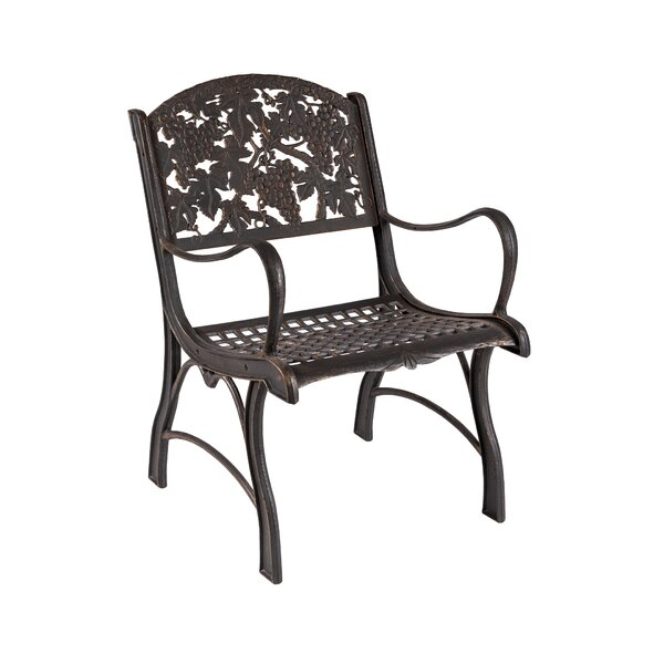 Yeary Grapes Patio Chair by Fleur De Lis Living