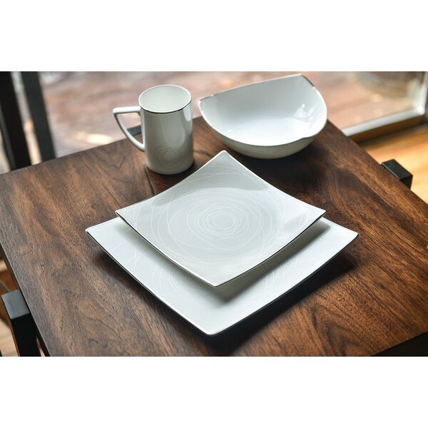 Orbit Bone China 16 Piece Dinnerware Set, Service for 4 by Red Vanilla