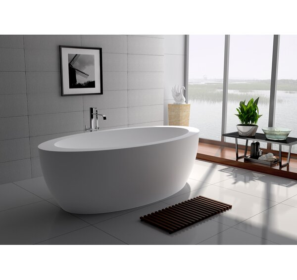 75 x 39.5 Freestanding Soaking Bathtub by Legion Furniture