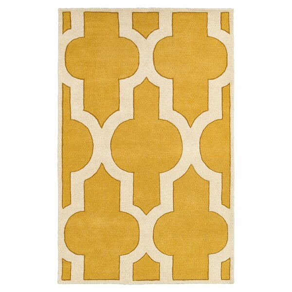 Handmade Gold Area Rug by The Conestoga Trading Co.
