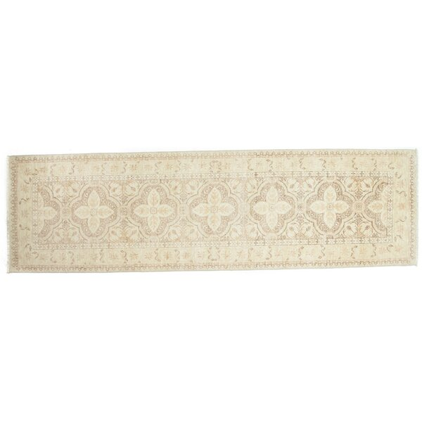 One-of-a-Kind Eclectic Hand-Knotted Beige Area Rug by Darya Rugs