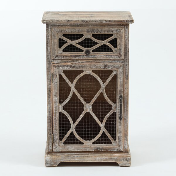 Falmouth Rustic Wood and Metal Accent Cabinet by August Grove