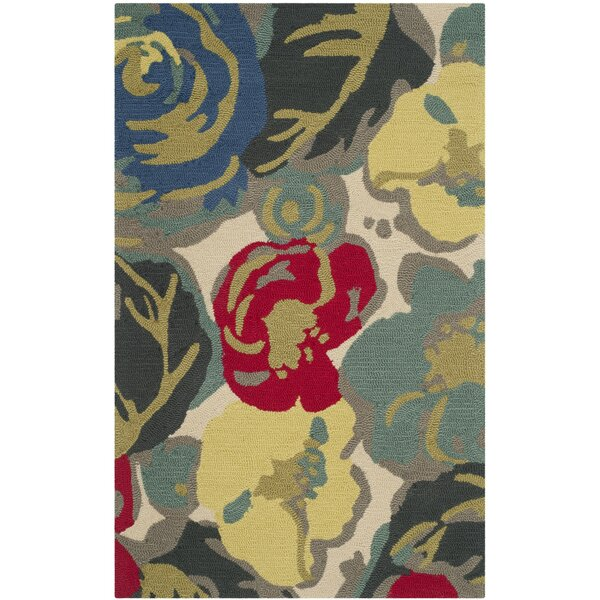 Doyle Floral Hand-Tufted Ivory Indoor / Outdoor Area Rug