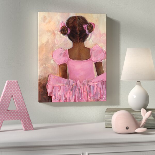 Alena Perfect Ballerina African American Canvas Art by Harriet Bee