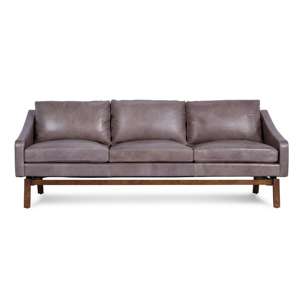 Leslie Leather Sofa by Modern Rustic Interiors