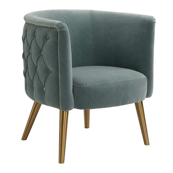 Kyleigh Barrel Chair by Bungalow Rose