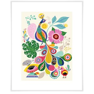 Harold Peacock Happiness Paper Print by Zoomie Kids