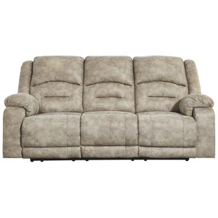 Zenobia Reclining Sofa with ADJ Headrest Red Barrel Studio