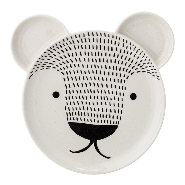 Jamar Stoneware Bear Face 8.87 Dessert Plate by Harriet Bee