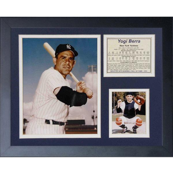 Yogi Berra Framed Memorabilia by Legends Never Die