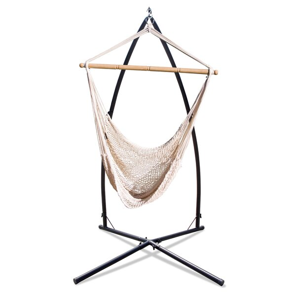 Erithon Summit Combo Net Chair Hammock with Stand by Freeport Park Freeport Park