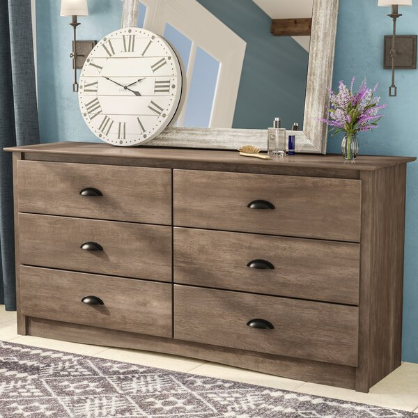 June 6 Drawer Double Dresser by Laurel Foundry Modern Farmhouse