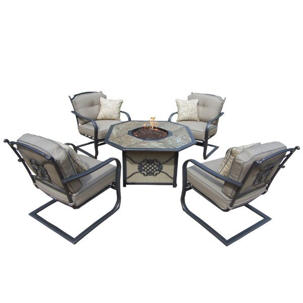 Tradition Fire Pit 5 Piece Sofa Set with Cushions by Oakland Living