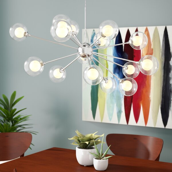 Jaxon 15-Light Sputnik Chandelier by Langley Street