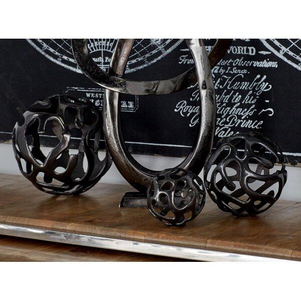 Aluminum Decor Ball 3 Piece Sculpture Set by Cole & Grey