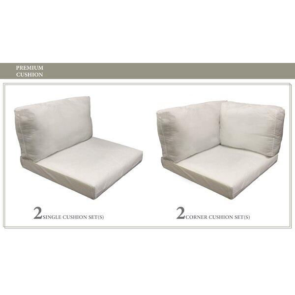 Monaco Outdoor 10 Piece Lounge Chair Cushion Set by TK Classics TK Classics