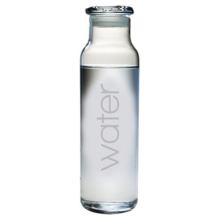 Drink Water Bottle by Susquehanna Glass