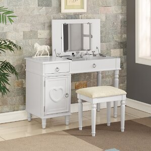 Strathmore Flip Up Vanity Set With Mirror