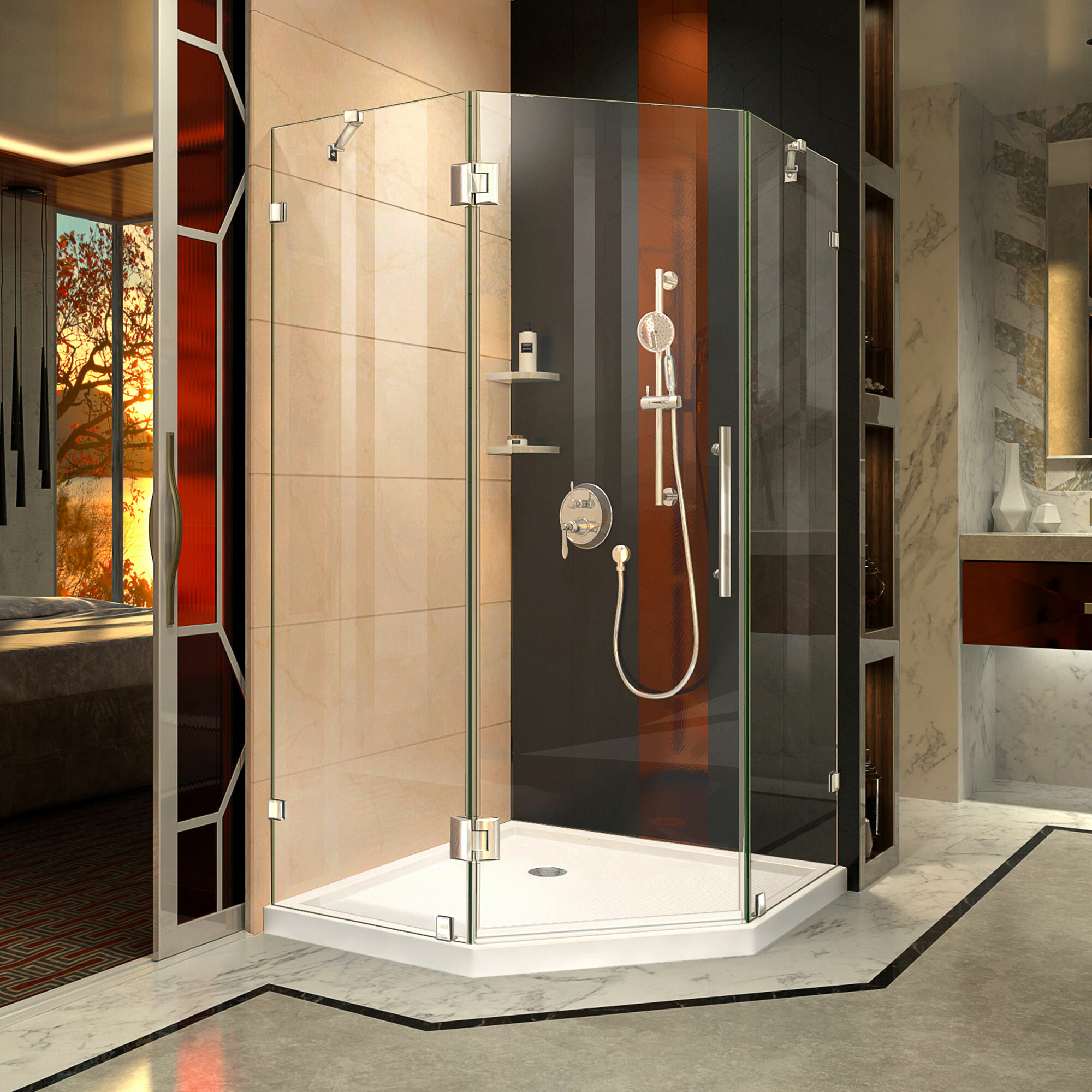 Dreamline Prism Lux 4038 X 72 Neo Angle Hinged Shower Enclosure