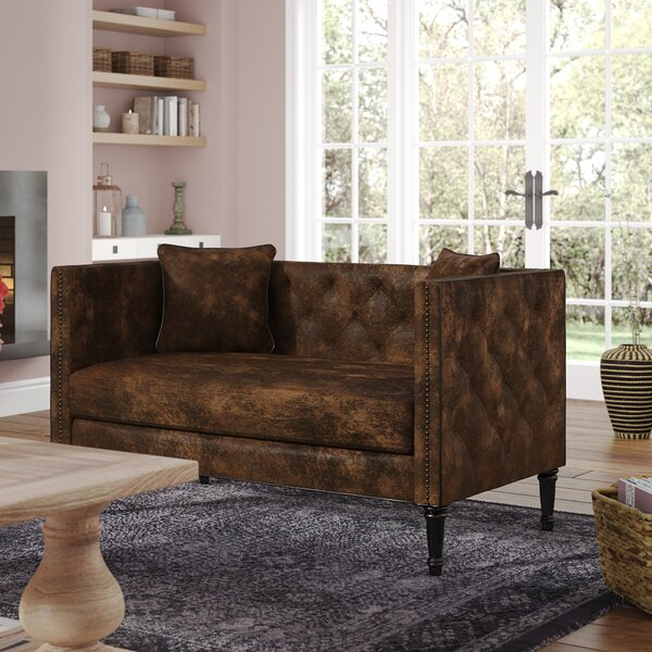 Soundview Chesterfield Settee by Lark Manor