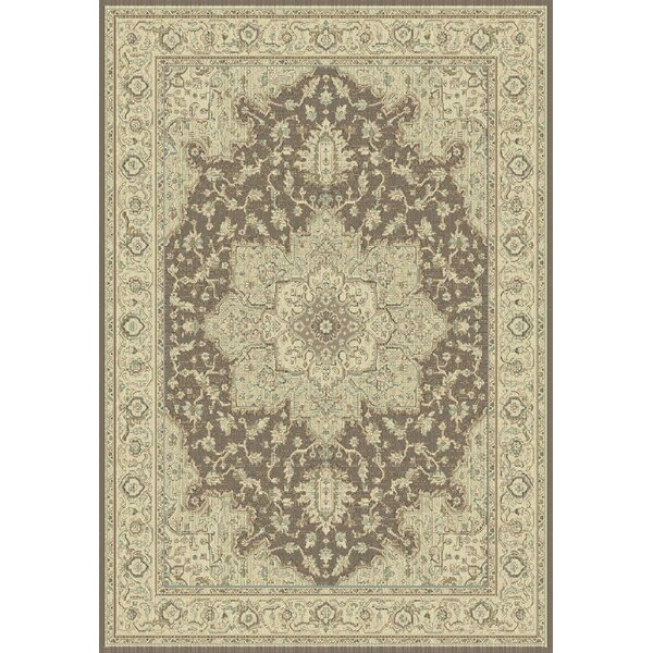 Manor Brown/Cream Area Rug by Astoria Grand