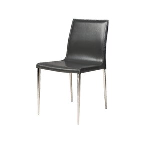 Alix Genuine Leather Upholstered Dining Chair (Set of 2) by Latitude Run