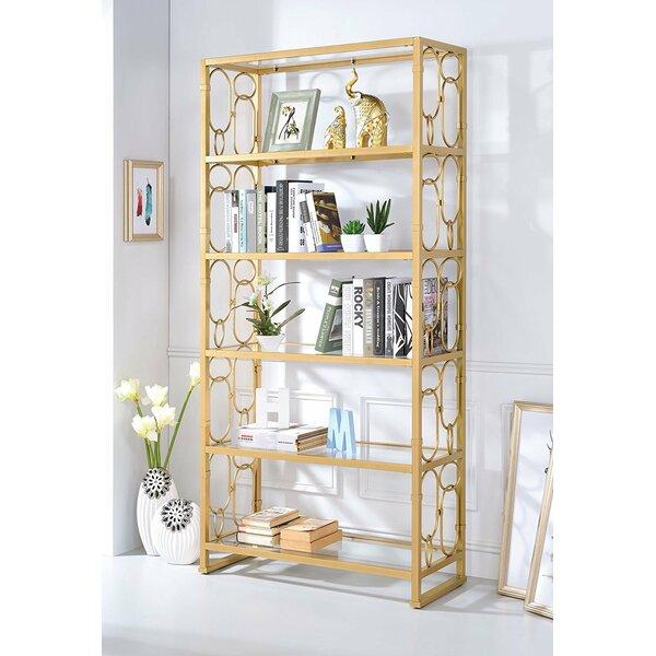Girton Geometric Etagere Bookcase by Everly Quinn