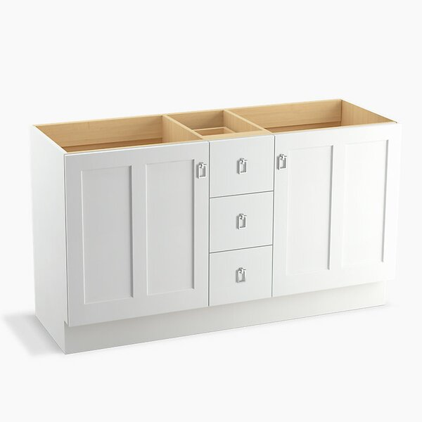 Poplin™ 60 Vanity with Toe Kick, 2 Doors and 3 Drawers, Split Top Drawer by Kohler