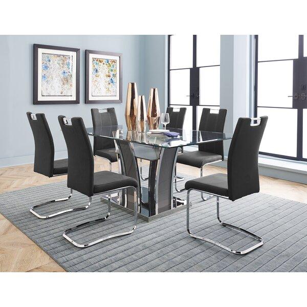 Best #1 Leda Dining Table By Orren Ellis Design
