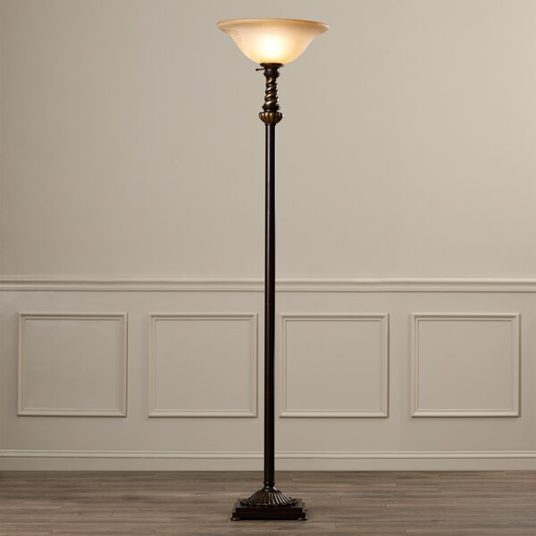 Oxley 71 Torchiere Floor Lamp by Charlton Home