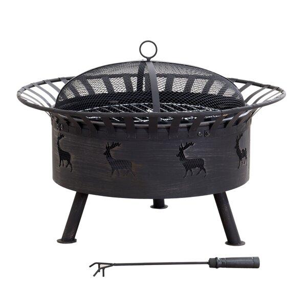 Cast Iron/Steel Wood Burning Fire Pit by Sunjoy Sunjoy