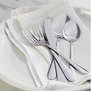 Wayfair Basics 40 Piece Stainless Steel Flatware Set : kitchen and tableware - pezcame.com