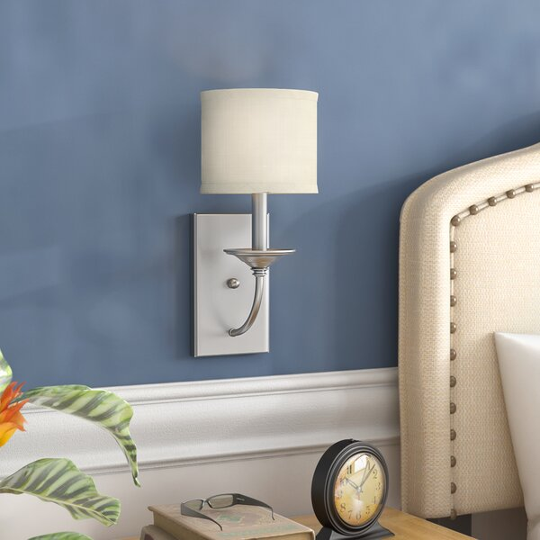 Maderia 1-Light Candle Wall Light by Three Posts