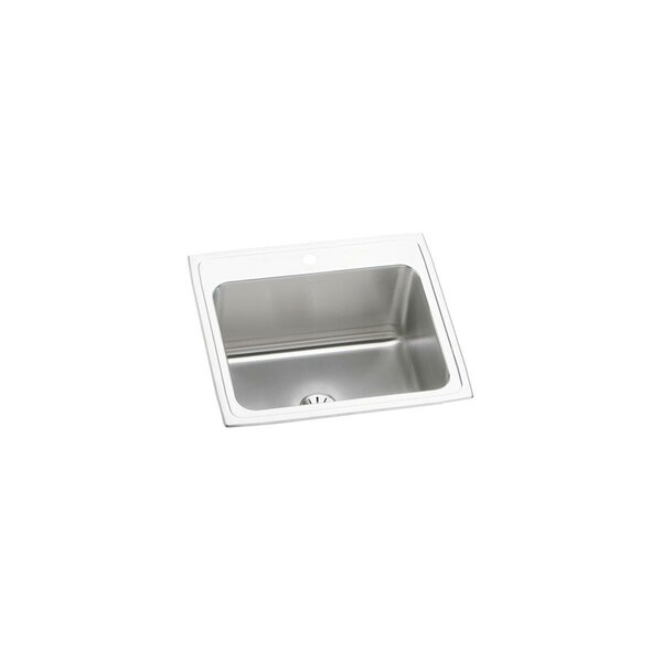 Lustertone 25 L x 22 W Drop-In Kitchen Sink with Perfect Drain