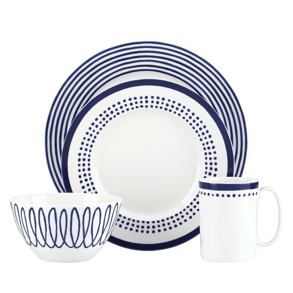 Charlotte Street East 4 Piece Place Setting, Service for 1 by kate spade new york
