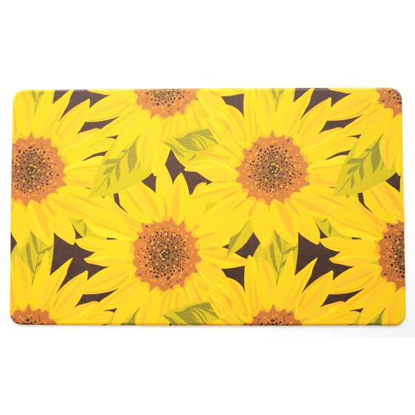 Guliana Sunflower Anti-Fatigue Kitchen Mat by August Grove