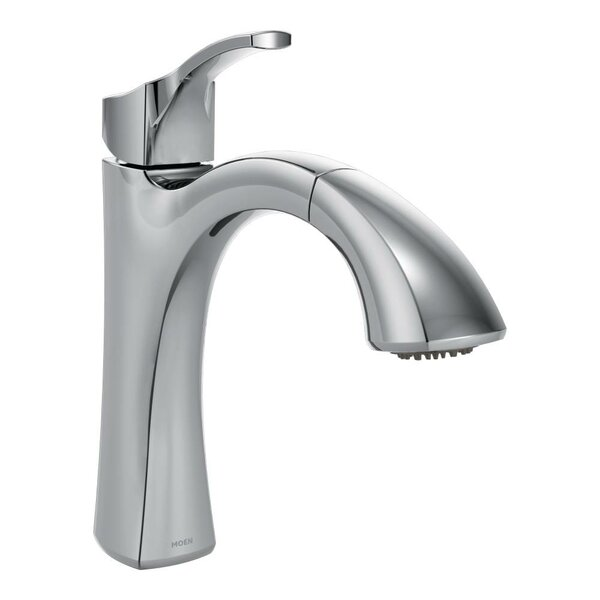 Voss Pull Out Single Handle Kitchen Faucet with Reflex™ and Duralock™ by Moen