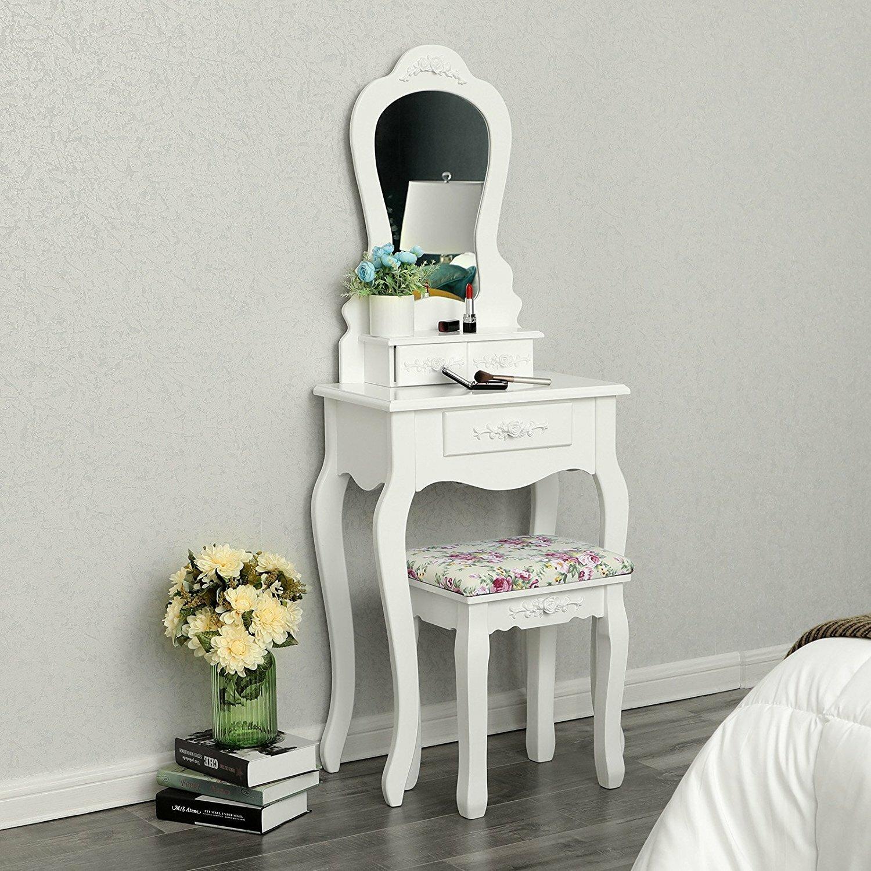new york dec0b 6b37c Amalia Compact Dressing Table Set with Mirror