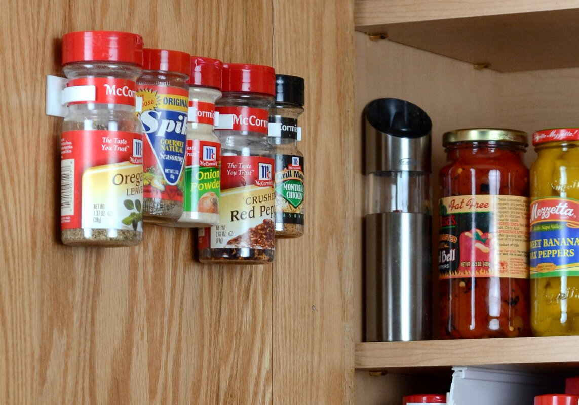 Cabinet Door 20 Jar Spice Rack