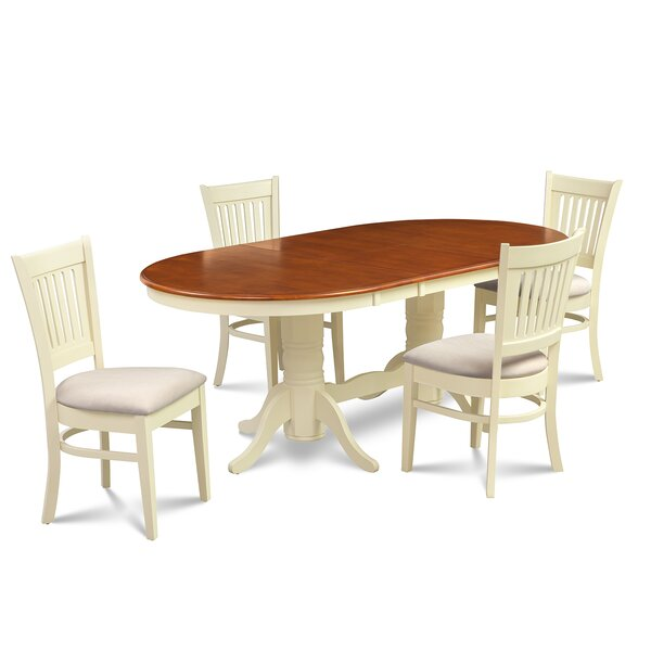 Schacht Traditional 5 Piece Solid Wood Dining Set by Winston Porter