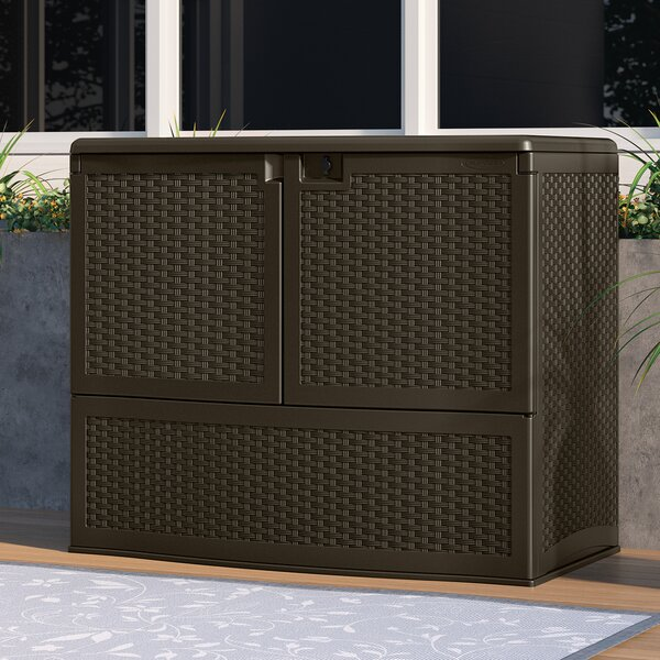 Outdoor Java 4 ft. W x 2 ft. 7 in. D Horizontal Storage Shed by Suncast Suncast