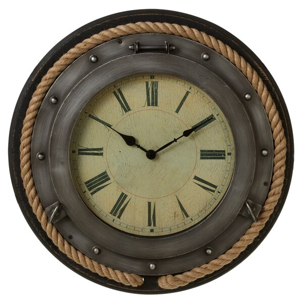 Weitzel Porthole 21 Wall Clock by Breakwater Bay