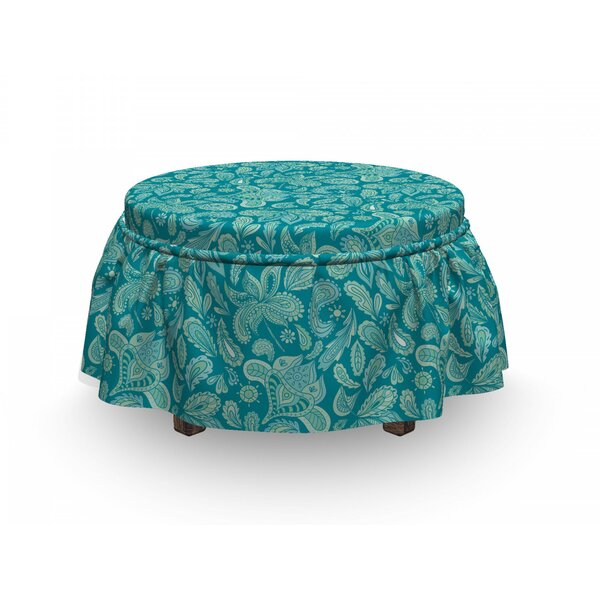 Paisley Ottoman Slipcover (Set Of 2) By East Urban Home
