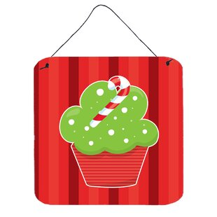 Christmas Cupcake Red Wall Décor