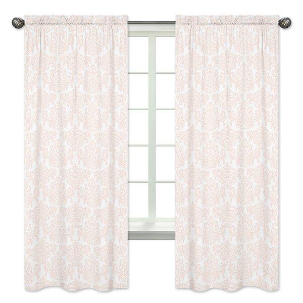 Amelia Damask Semi-Sheer Rod pocket Curtain Panels (Set of 2) by Sweet Jojo Designs
