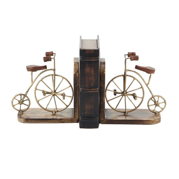 Bicycle Bookends (Set of 2) by Williston Forge