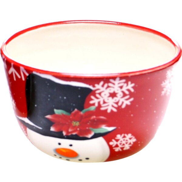 Top Hat Snowman Ice Cream Bowl (Set of 4) by The Holiday Aisle