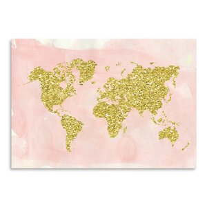 World Map Graphic Art by East Urban Home
