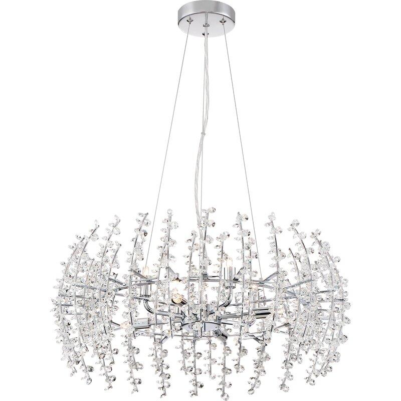 Viggo 8 light crystal chandelier