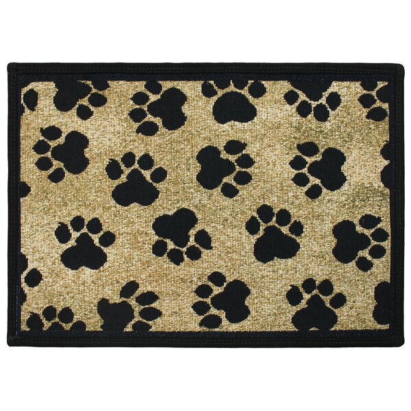 PB Paws & Co. Gold World Paws Tapestry Area Rug by Park B Smith Ltd